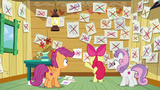 CMC with papers showing what they could do crossed out S6E4