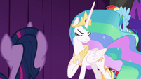 "Celestia ""step down from the throne"" S8E7"