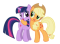 FANMADE Applejack with Twilight.png