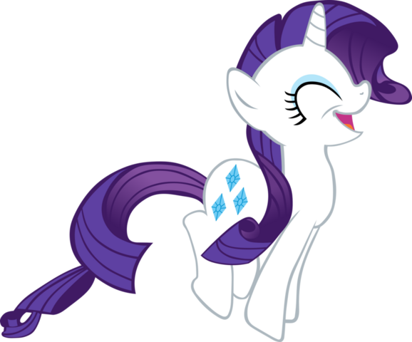 File:FANMADE Bounding Rarity is happy Rarity by bengo538.png