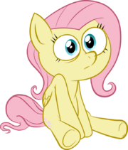 FANMADE Sitting Fluttershy vector by termi92