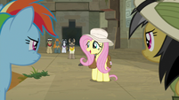 "Fluttershy asking ""right, Dr. C?"" S9E21"