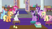 Main ponies confused by the photographer S8E13