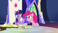 Pinkie Pie appears next to Twilight's throne S7E11.png