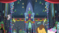 Ponies decorating the interior of the Castle of Friendship S06E08.png