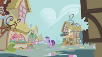 Ponyville in shambles S1E10