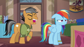 Quibble Pants mocking Rainbow Dash S6E13.png