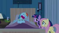 Rainbow Dash feigning snoring S2E16