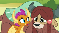 "Smolder ""yaks are actually good at jokes"" S8E1"