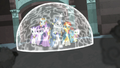 Star Swirl keeping his allies in a magic barrier S7E26.png