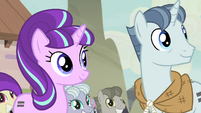 Starlight and Party Favor hear Fluttershy S5E2