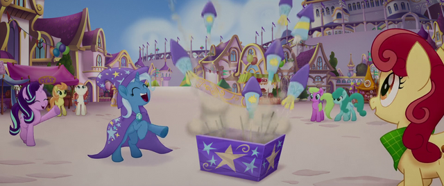 File:Trixie shooting off fireworks MLPTM.png