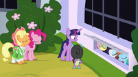 Twilight's friends agreeing with Spike S9E4