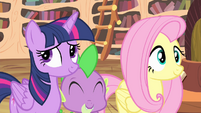 Twilight rolls eyes S4E11