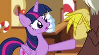 Twilight says she's glad; pushes Discord away S5E22