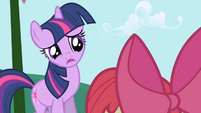 Twilight tells Apple Bloom she's busy