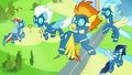 Wonderbolts' training disrupted by turbulence S7E7.png