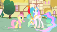 201px-Princess Celestia shows Philomena to Fluttershy S01E22