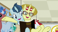 Flim appears beside Student 1 in glasses S8E16