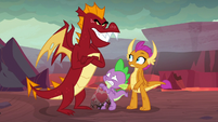 Garble looms menacingly over Spike S9E9