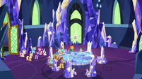 Mane Six and Pillars look at floating cutie marks S7E26