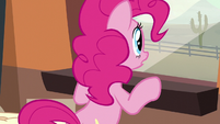 Pinkie looking through the window S5E11