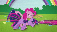 Pinkie uses Twilight like a magic gatling gun BFHHS3