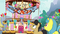 Ponies look at the smoldering banner S7E15.png