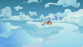 Rainbow, Fluttershy, and Boy Bullies on a faraway cloud S5E25.png