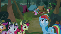 Rainbow Dash getting annoyed with princesses S9E13