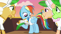 Rainbow Dash in Gold Horseshoe Gals shirt S8E5