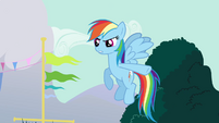 Rainbow Dash pointing her hooves S3E5
