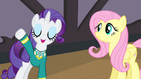 "Rarity ""sound like your lovely self again"" S4E14"