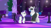 Rarity --Could you please ask her to turn it down--- S6E9