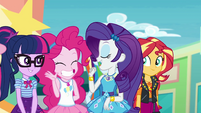 Rarity introduces Pinkie Pie EGROF
