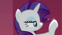 Rarity looking at her sparkling hoof S7E14