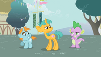 Spike confronting Snips and Snails S1E06