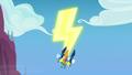 Spitfire, Soarin, and High Winds make a lightning bolt S7E7.png