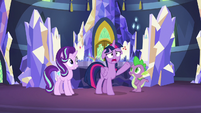 "Twilight ""what in Equestria could be going on there?!"" S7E10"