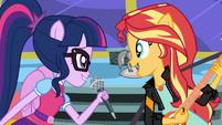 Twilight Sparkle and Sunset Shimmer singing together SS13