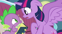 Twilight asks Spike if her old friends think she's a bad friend S5E12