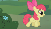 Apple Bloom following Zecora into the Forest S1E09