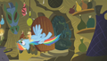 Applejack and Rainbow storm the hut S1E09.png