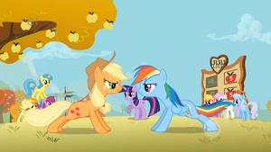 Applejack och Rainbow Armhävningar