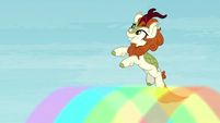 Autumn Blaze jumps off a rainbow S8E23
