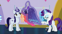 Goth Pony levitating Over the Moon dress S5E14