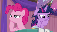 Pinkie Pie and Twilight Sparkle thinking S9E16