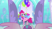Pinkie Pie bursts into Flurry Heart's nursery BFHHS1