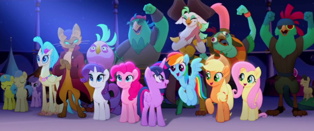 File:Ponies, pirates, and Capper cheering MLPTM.png