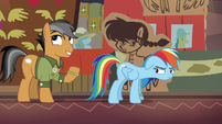 "Quibble Pants ""after sustaining a broken wing"" S6E13"
